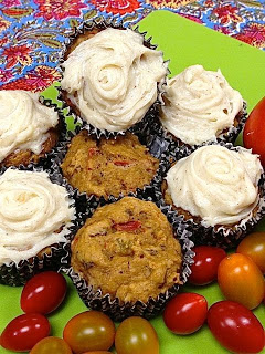 Meatless Luscious Fun, Spiced Tomato Cupcakes