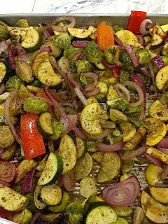 Meatless Luscious Fun: Easy Herb-Rubbed Roasted Summer Veggies – 082613
