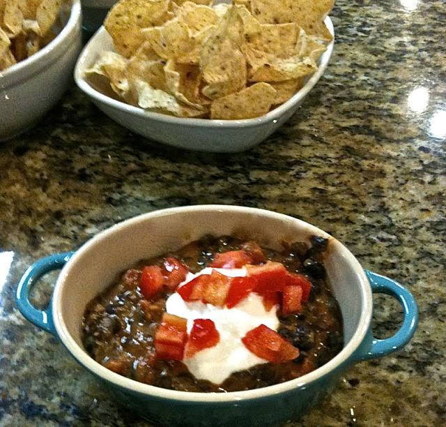 Black Bean Chocolate Dip for the Super Bowl