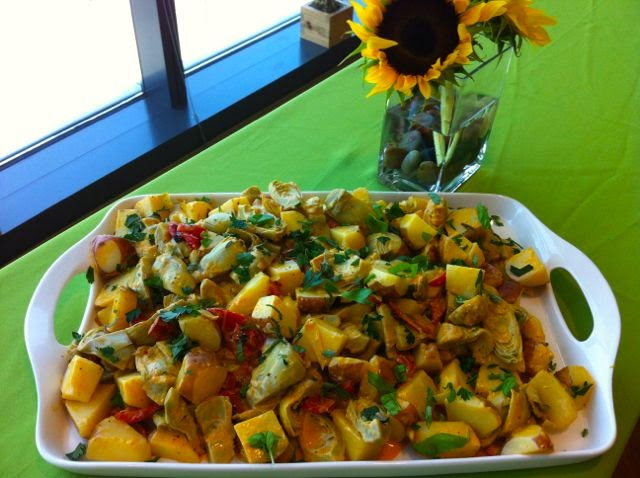 Happy St Pats! Tapping into a Different Cuisine for Potatoes – Smoky Potato and Artichoke Salad