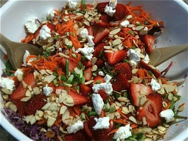 Mostly Meatless – SPRING Strawberry Jam Salad