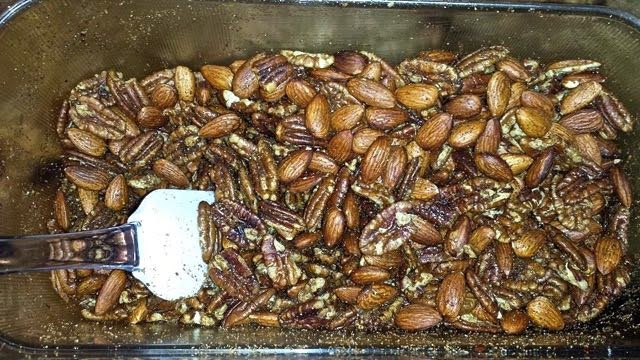 Pepper Popped and Roasted Nuts