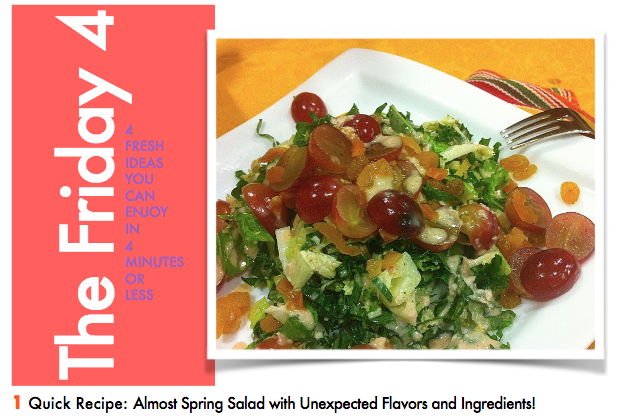 MARCH 11TH, 2016 : Almost Spring Salad with Pinot Dressing