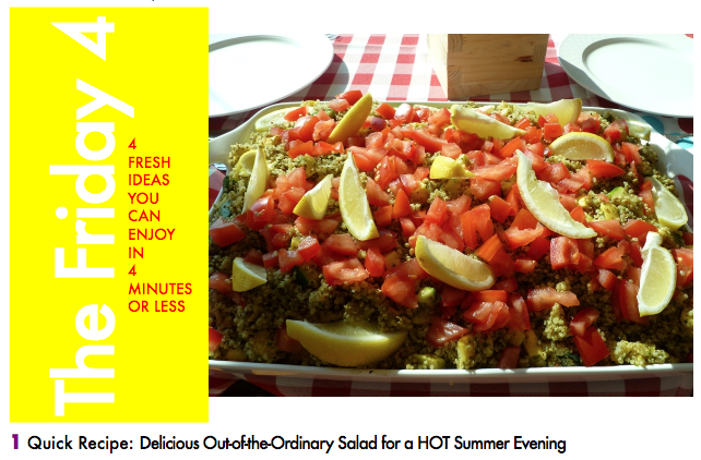 JULY 22ND, 2016 : Quinoa and Summer Veggie Salad