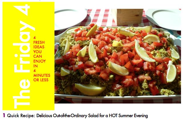 JULY 22ND, 2016 : Quinoa and Summer Veggie Salad