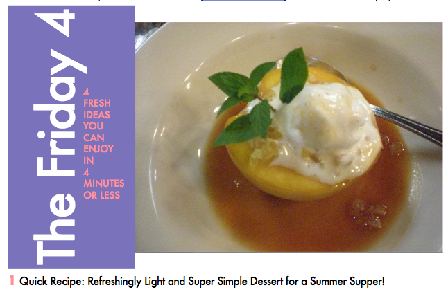 JULY 2ND, 2016 : Cool and Creamy Peaches for Dessert