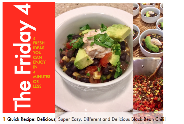 OCT. 28TH, 2016 : Green Chile with Black Beans for Halloween