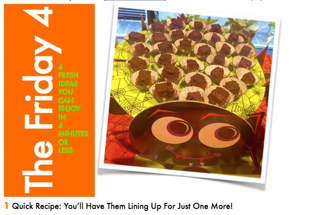 OCT. 21ST, 2016 : Scary Good Sweet Potato Maple Brownies