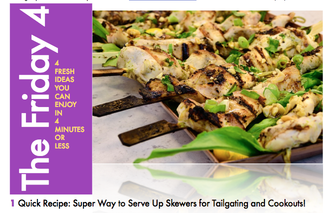 OCT. 7TH, 2016 : Grilled Chicken Skewers with Thai Flavors