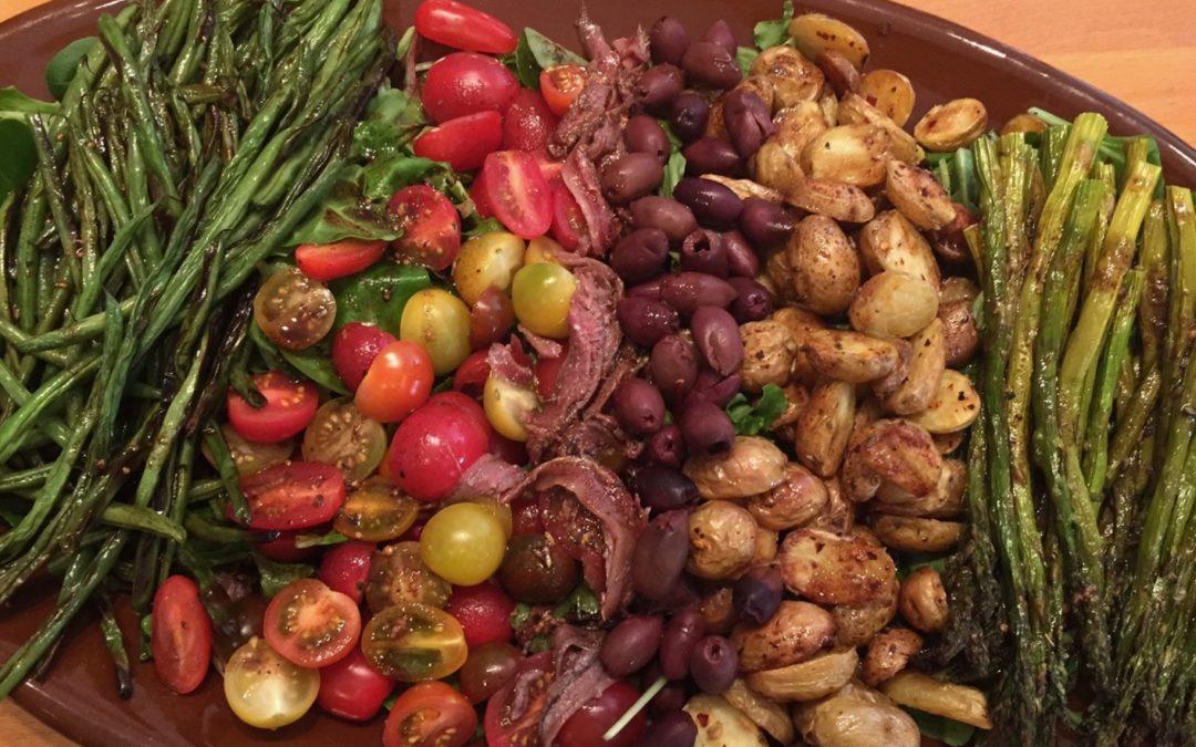 Spicy Tuesday – Warm Roasted Veggie Salad with Herbed Mustard Dressing – Italian Seasoning