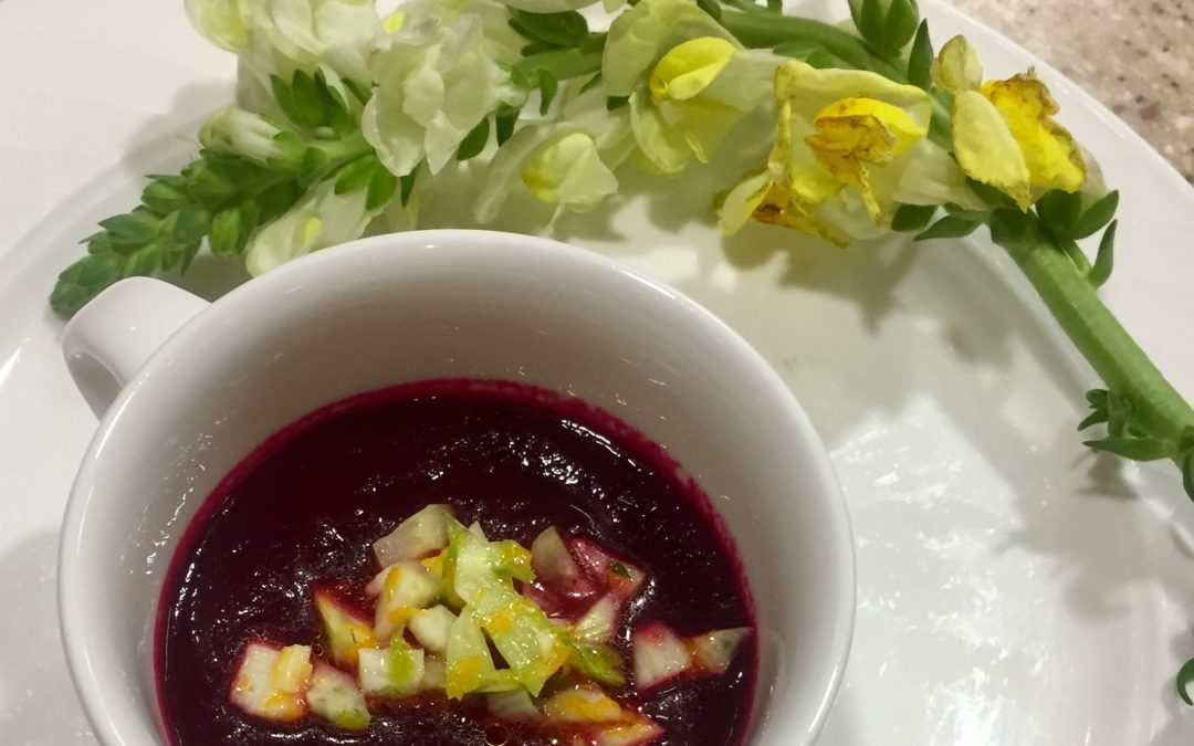 Spicy Tuesday – Roasted Apple and Beet Soup with Fennel and Orange Relish – Fennel Seeds