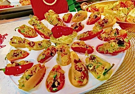 spicy tuesday – sweet peppers stuffed with mediterranean salad – dill