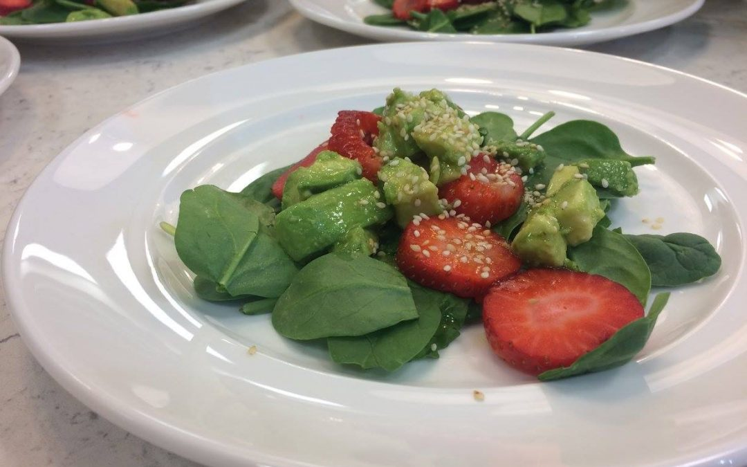 Spicy Tuesday – Strawberry Avocado Salad with Honey Lime Vinaigrette – Mint