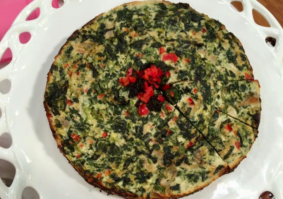 Spicy Tuesday: Happy Mother's Day! Baked Spinach and Artichoke Frittata – Basil