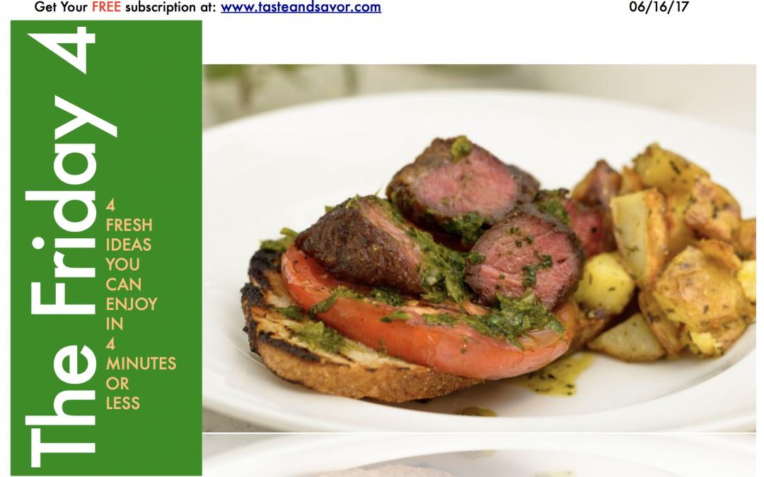 Churrasco Style Steak with Chimichurri