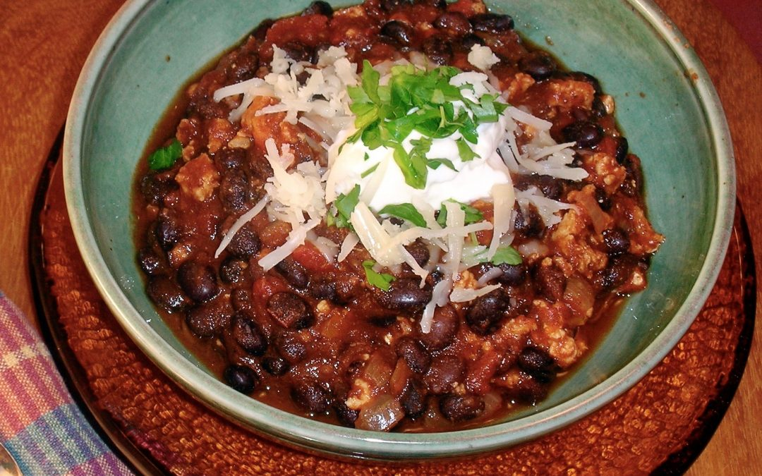 Spicy Tuesday – Flavorful Black Bean and Turkey Chili – Coriander