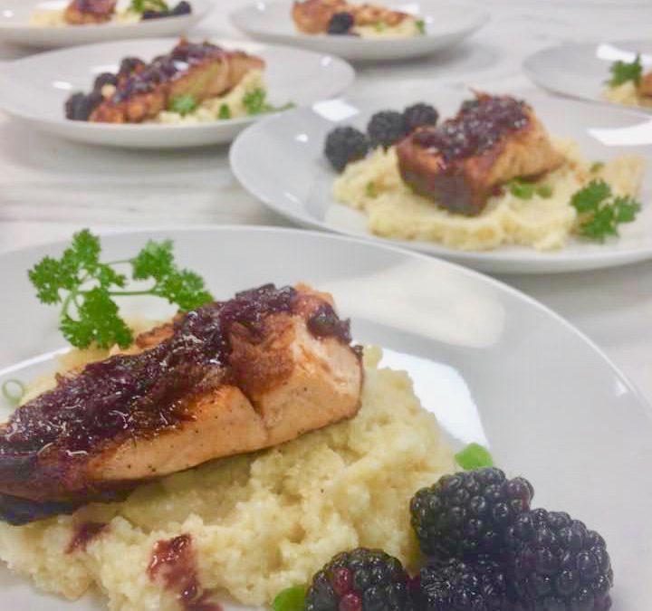 Spicy Tuesday – Blackberry Shallot Glazed Salmon – Parsley