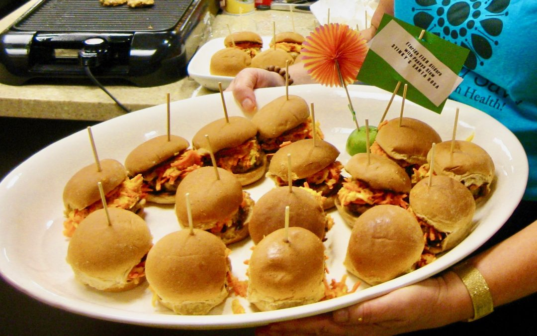 Friday Four 052518:  Florida Fish Sliders with Papaya Slaw