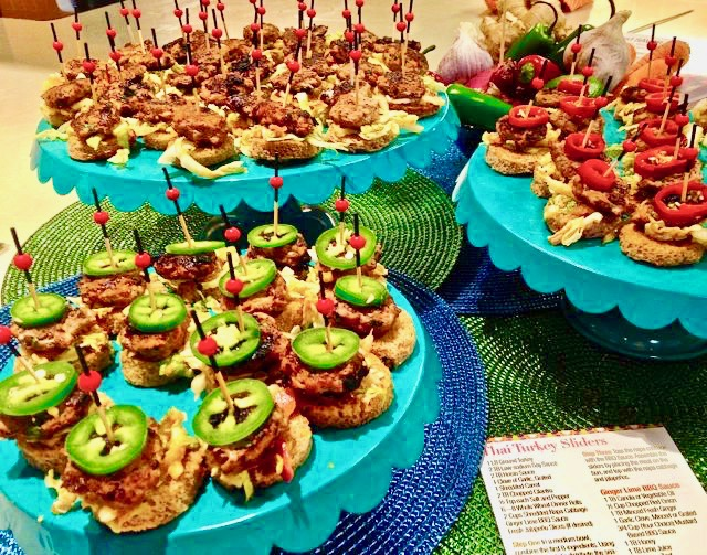 Spicy Tuesday – Thai Turkey Sliders with Peanut Ginger BBQ Sauce – Cilantro