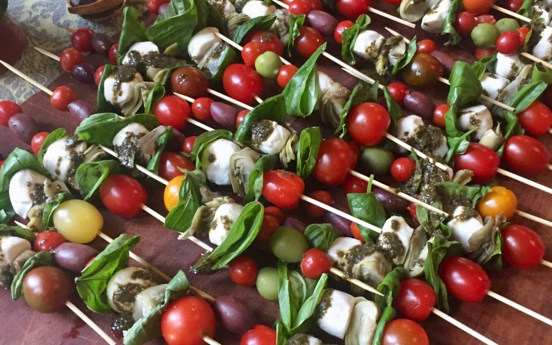 Spicy Tuesday – Better than Caprese Skewers – Basil