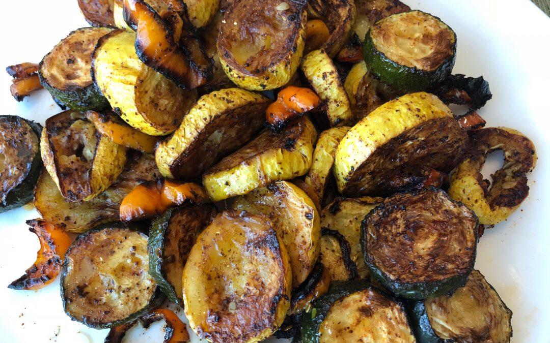 Spicy Tuesday – Roasted Summer Squash with Peppers – Sumac