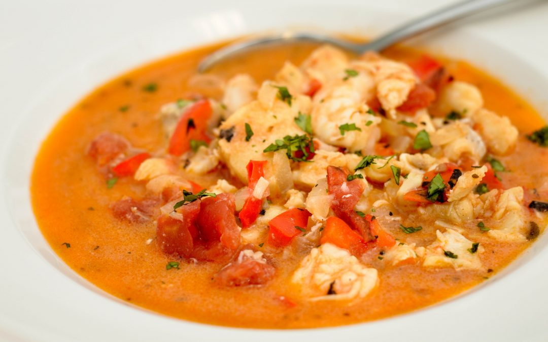 Spicy Tuesday – Thanksgiving Dinner Starter – Creamy Seafood Soup – Oregano