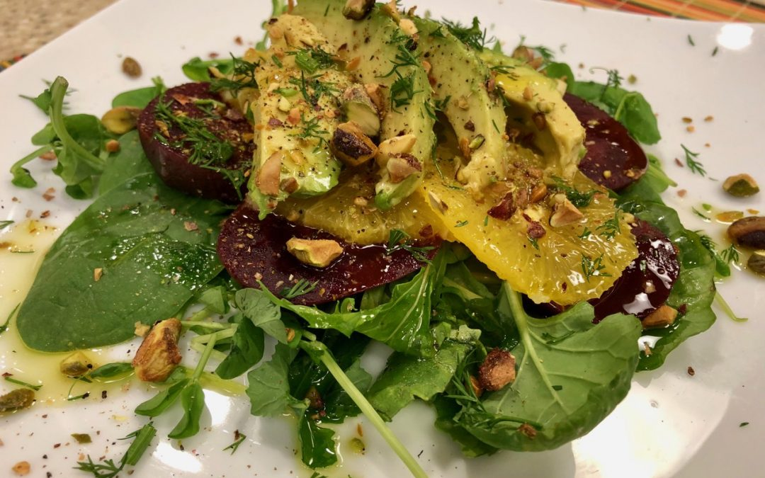 Spicy Tuesday – Beet, Orange and Avocado Salad with Dill – Dill