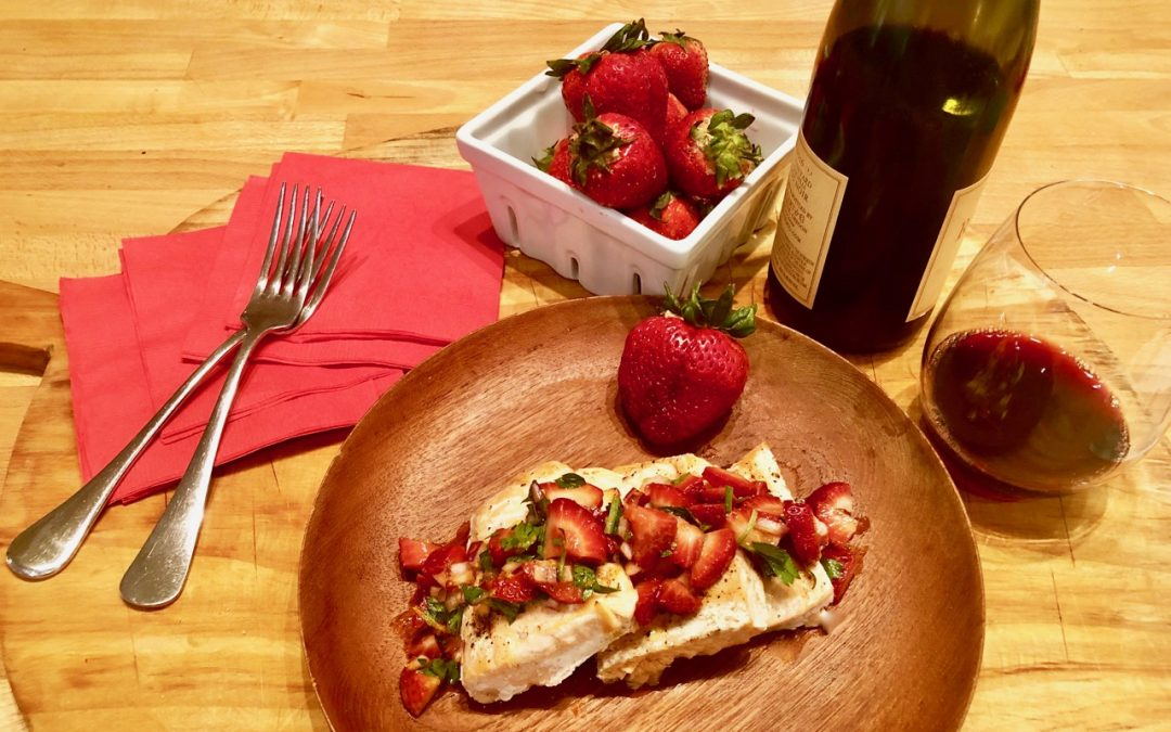 Drink Wine and Get Organized for Spring! Seven Minute Salmon with Strawberry Salsa