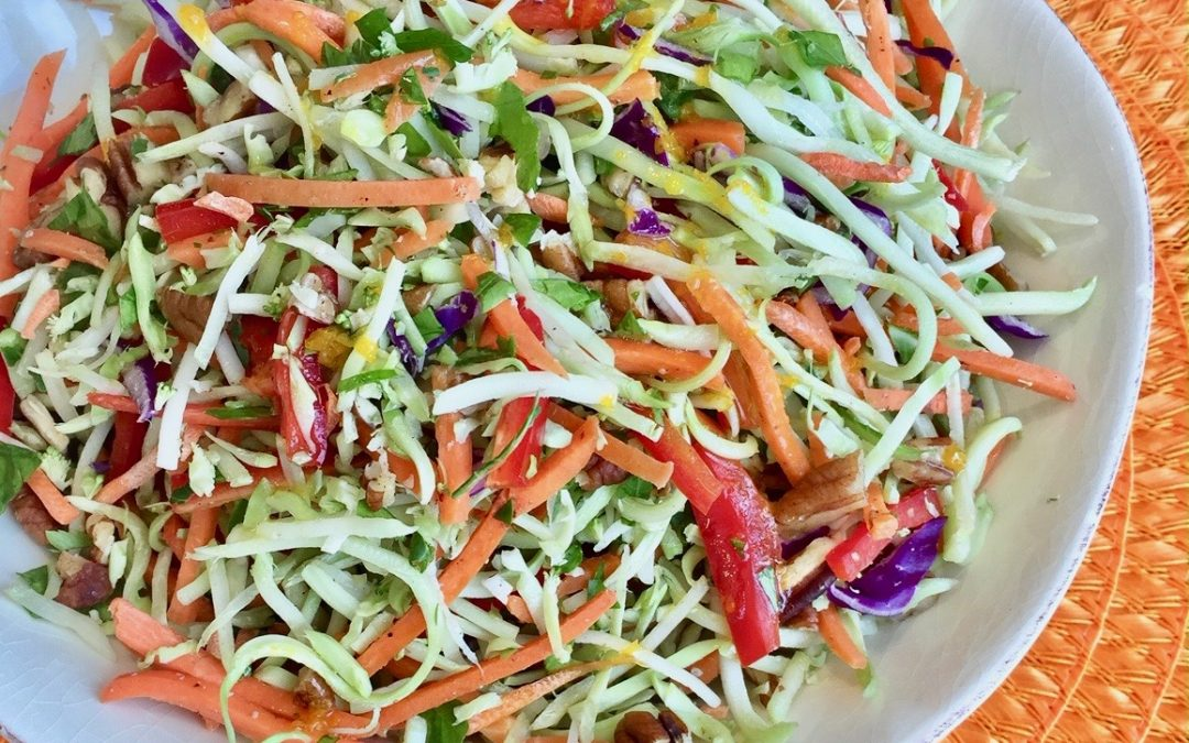 Spicy Tuesday – Broccoli Slaw with Zesty Orange Dressing and Georgia Pecans – Parsley