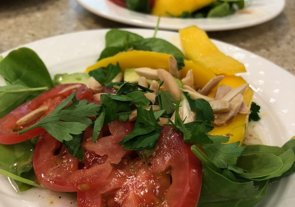Spicy Tuesday – Refreshing Mango and Tomato Salad – Parsley