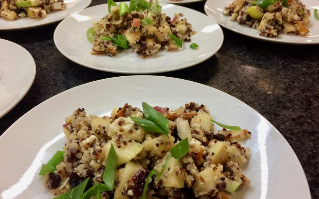 Spicy Tuesday – 7 Layer Quinoa, Butternut Squash and Apple Salad – Parsley