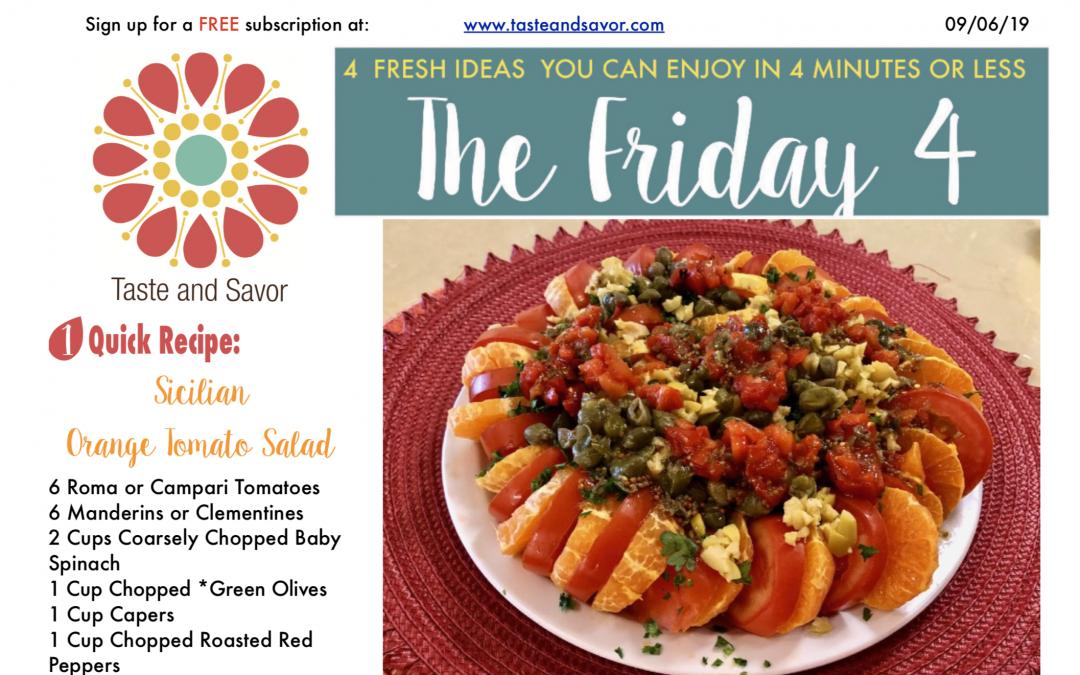 Friday Four 090619: Sicilian Orange Tomato Salad