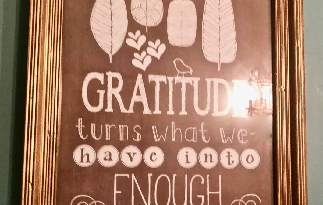 Friday Four – Gratitude for Thanksgiving – 112919