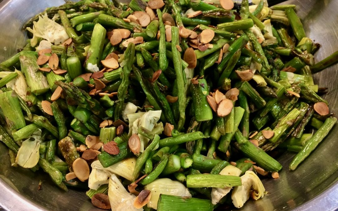 Spicy Tuesday – Artichokes, Green Beans and Asparagus with Almonds
