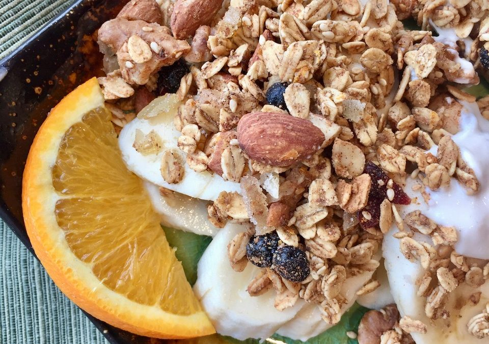 Spicy Tuesday – Easy Ginger Spiced Granola – Mace and Cardamom