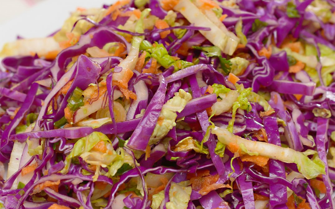 Spicy Tuesday – Crisp and Crunchy Orange Coleslaw – Basil