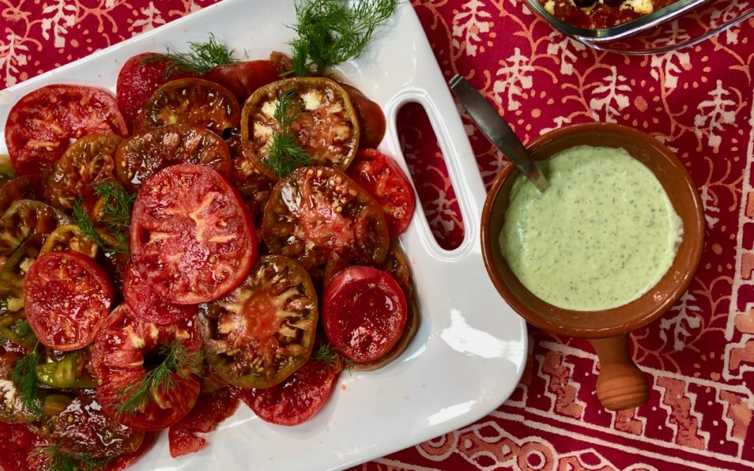 Spicy Tuesday – Green Goddess Dressing with Summer's Best Tomatoes – Anchovies