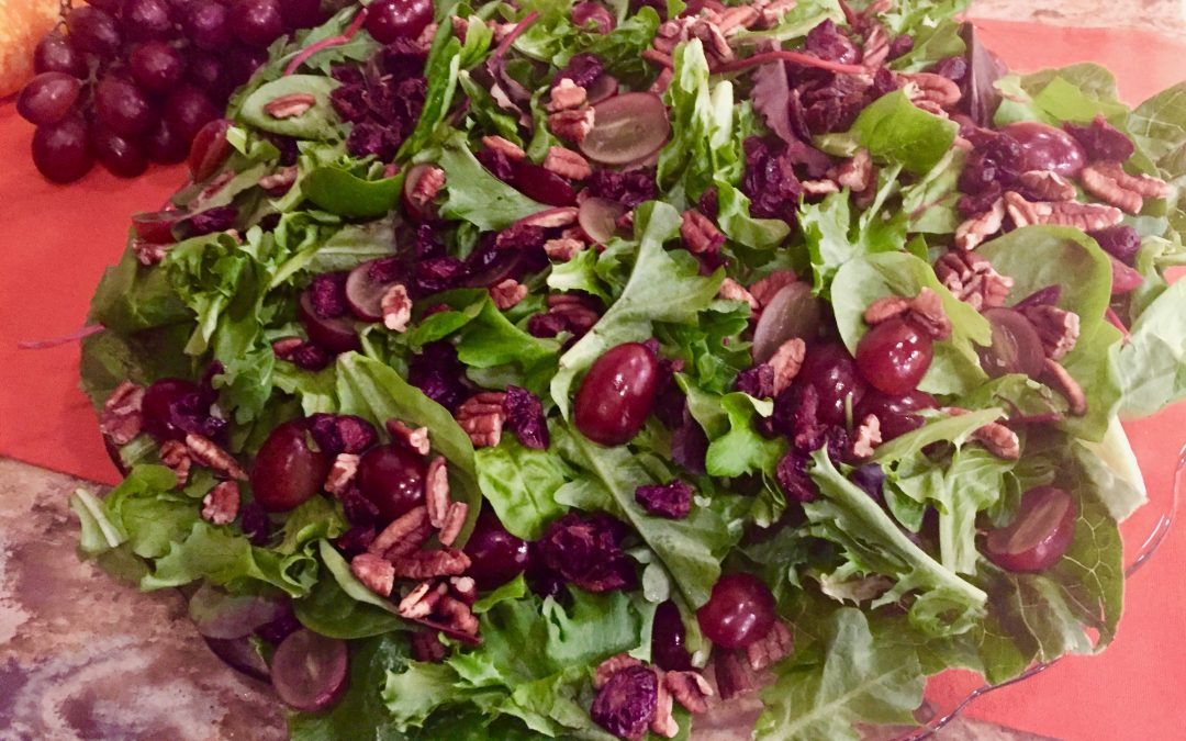 Spicy Tuesday – Fall Grape and Georgia Pecan Salad with Pumpkin Salad Dressing – Thyme