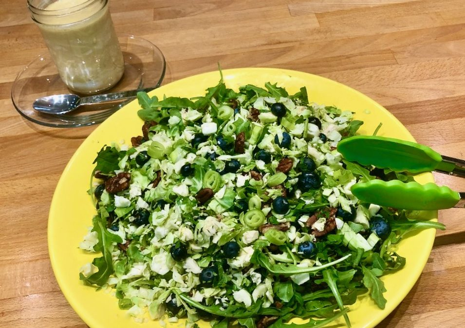 Spicy Tuesday – Brussels Sprouts Blueberry and Pecan Salad – Parsley