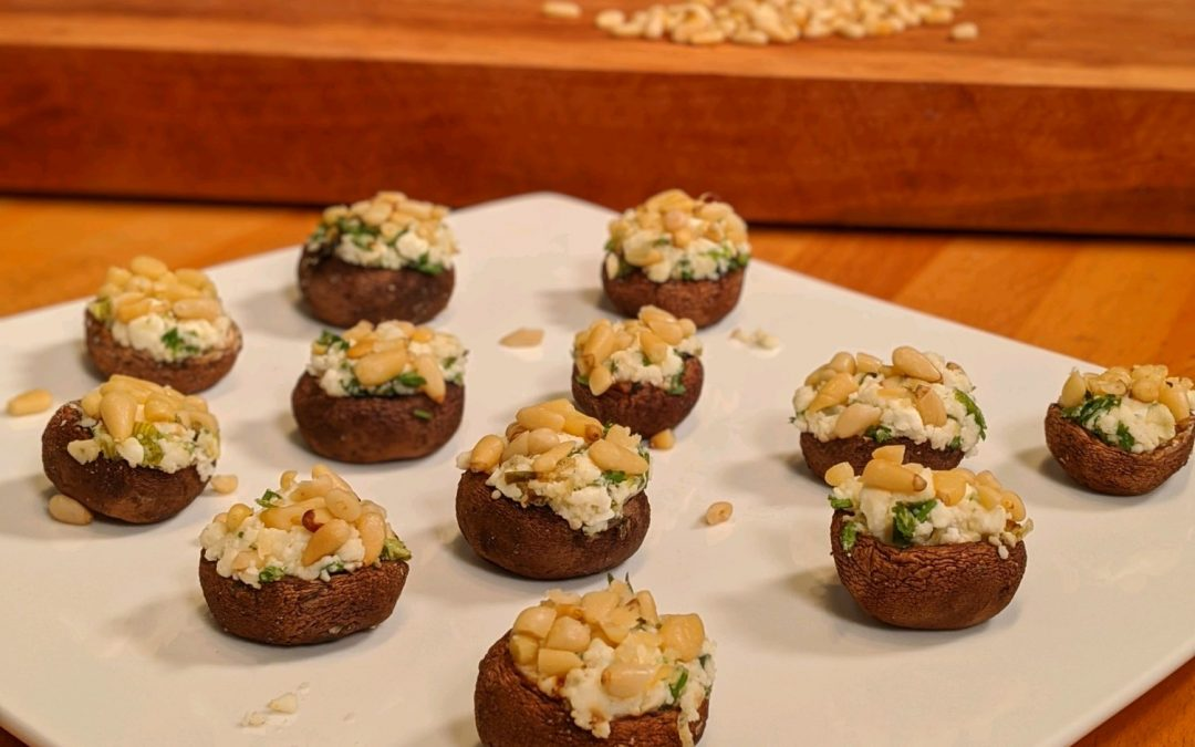 Spicy Tuesday – Goat Cheese and Herb Stuffed Mushrooms – Thyme, Rosemary and Sage