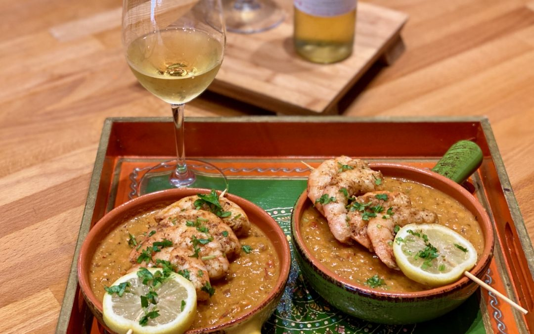 Red Lentil and Butternut Squash Soup with Garam Masala Roasted Shrimp and The Golden Wines of Bordeaux