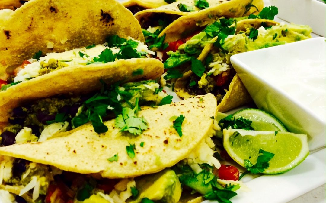 Spicy Tuesday – Breakfast for Dinner! Black Bean Tacos with Avocadoes – Turmeric