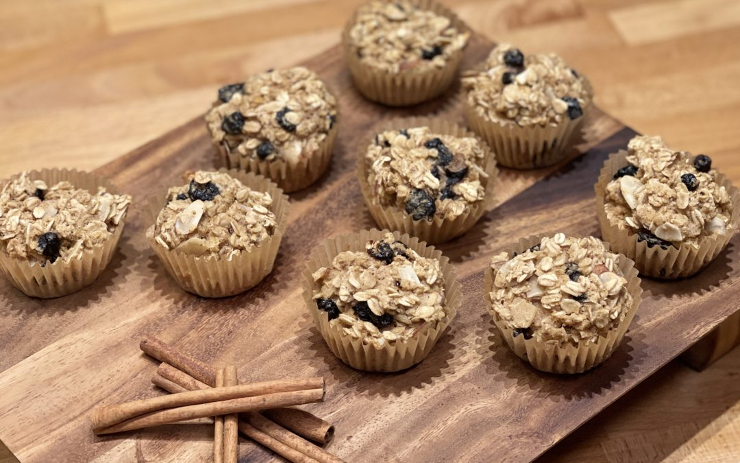 Spicy Tuesday – Nutty Fruity Oatmeal Muffins with a Secret Ingredient – Cinnamon