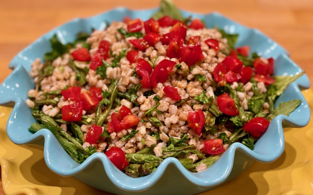 Herbed Farro and Roasted Green Bean Salad