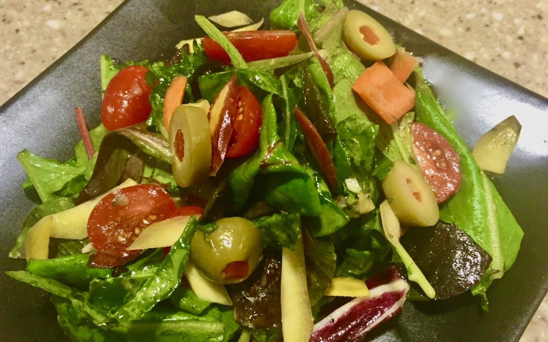 Spicy Tuesday – Cool Summer Salad with Zingy Olive Vinaigrette – Cilantro