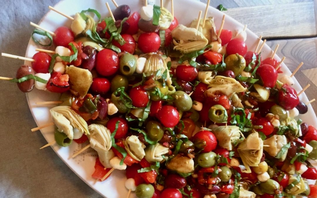Spicy Tuesday – Better than Caprese Salad Skewers – Basil