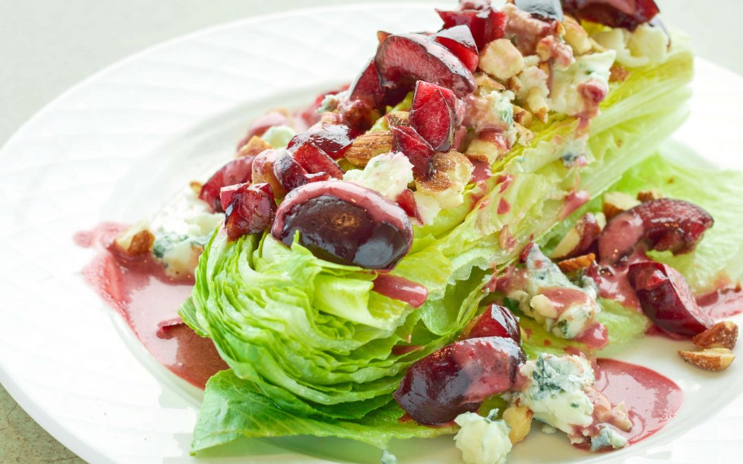 Spicy Tuesday – Cherry Balsamic Dressing Topped Romaine Wedges – Marjoram