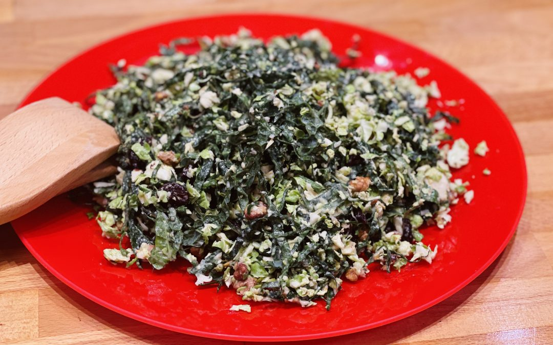 Spicy Tuesday – Kale and Brussels Salad – Red Pepper Flakes