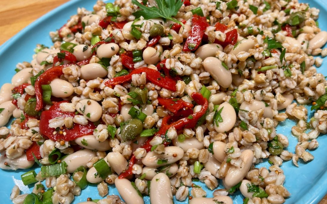 Spicy Tuesday – Farro, Red Pepper and White Bean Salad – Rosemary